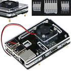 Clear Case Enclosure Box + Cooling Fan +3PCS Heatsink For