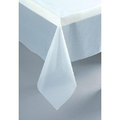 "Clear Plastic Tablecloth, 108"" x 54"