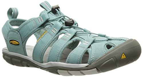 KEEN Women's Clearwater CNX Sandal,Barberry/Hot Coral,9 M US