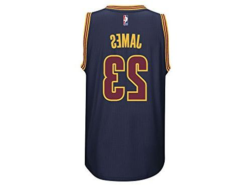 Lebron James Cleveland Cavaliers Navy Jersey Name and Number