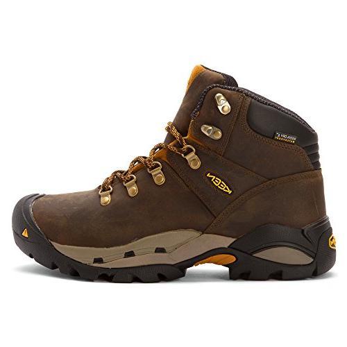 KEEN Utility Men's Cleveland Engineer Boot, Cascade Brown/