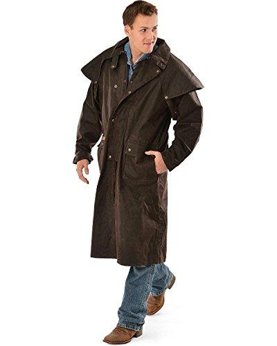 Outback Trading Co Men's Co. Long Oilskin Duster Brown Large