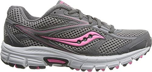 Saucony Women's Cohesion TR8 Trail Running Shoe,Grey/Pink/
