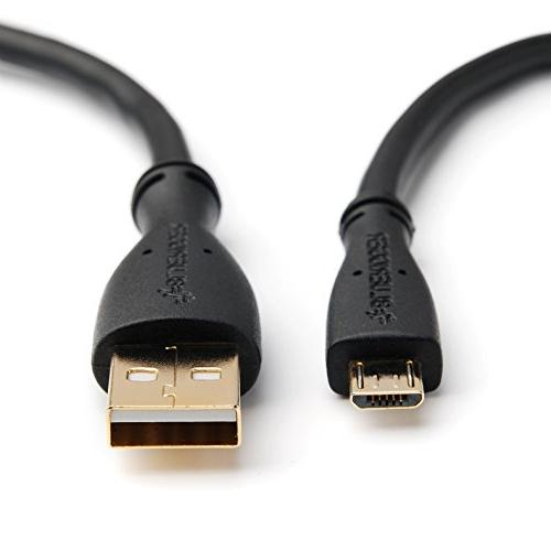 BlueRigger Rapid Charge Coiled Micro USB Cable 2.5 FT -