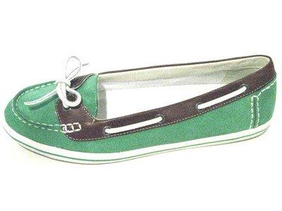 COLE HAAN AIR JAMIE BOAT SHOE II GREEN HOUSE / SQUOIA D37235