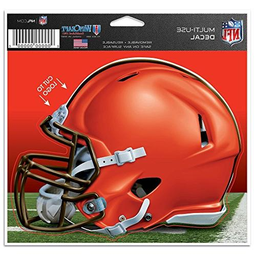 """NFL Cleveland Browns WCR12951115 Multi-Use Decal, 4.5"""" x 5."""