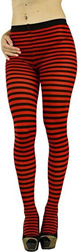 ToBeInStyle Women's Colorful Opaque Striped Tights Pantyhose