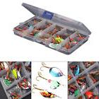 Lot 30pcs Colorful Trout Spoon Metal Fishing Lures Spinner