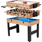 "MD Sports Combo Table 48"" 3-In-1 Multi-Game Slide Hockey"