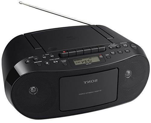Sony CD/Cassette Boombox, Digital Tuner AM/FM Radio,