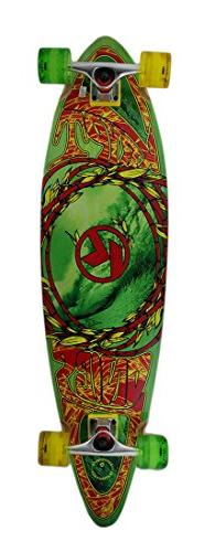 38 in. Complete Green Kryptonics Pintail Longboard w/Wave
