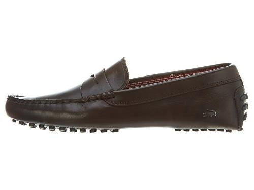 Lacoste Concours 14 Men's Penny Loafers Leather Shoe Brown