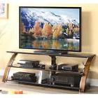 Console TV Stand Flat Screen Table Media Storage Shelves