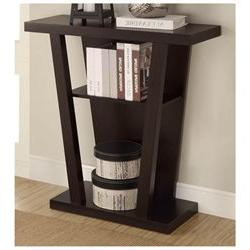 Contemporary Style Console Table in Cappuccino by Coaster