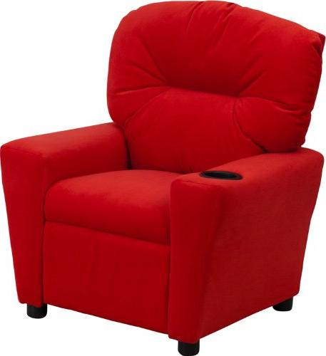 Flash Furniture Kids' Microfiber Recliner with Cup Holder,