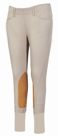 Equine Couture Girl's Coolmax Champion Side Zip Breech,