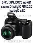 Nikon COOLPIX L340 20.2MP Digital Camera with 28x Optical Zoom - Black-BRAND NEW