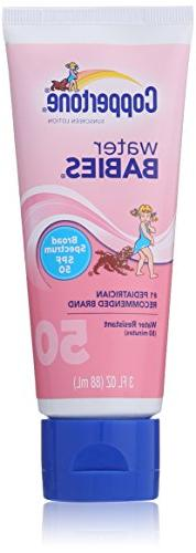 Coppertone Water Babies SPF 50 Sunscreen Lotion, 3 Ounce