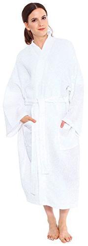 Simplicity Men / Women Cotton Lightweight Waffle Kimono Bath