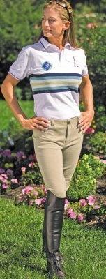 TuffRider Women's Cotton Lowrise Pull-On Breeches, Light Tan