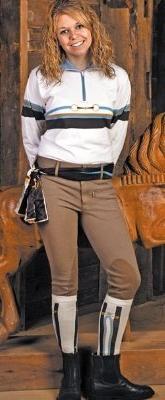 TuffRider Women's Cotton Lowrise Wide Waistband Breeches ,