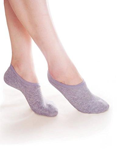 Vero Monte 6 Pairs Womens Cotton No Show Socks 3661