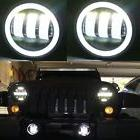 2X 30W 4 inch CREE Led Fog Light White Halo Jeep Wrangler Jk