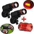 2PCS Cree Q5 Mountain Bike Bicycle Cycling Zoomable Torch
