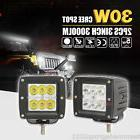 2x 3inch 30W CREE LED SPOT Cube Work Lights Driving Pods Off
