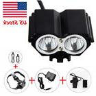 For New 5000LM 2x Cree T6 Led Bicycle Bike Front Head Light
