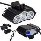 12000Lm 3 x CREE XM-L T6 LED Bicycle Lamp Bike Headlight