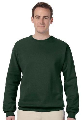 Jerzees-CrewNeck Sweat Shirt 50/50 Poly/Cotton 8oz. ~Forest