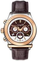 Salvatore Ferragamo Croc-Embossed Chronograph Watch, Brown