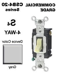 CSB4-20G 20 Amp 4-Way Toggle Switch Commercial - Gray