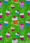CUPCAKE PARTY GIFT WRAPPING wrap PAPER ~ Birthday Party