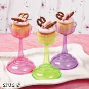 Colored Cupcake Pedestals - Party Decorations & Cake