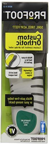 PROFOOT Custom Insole with Vita-Foam, Men's 8-13, 1 Pair