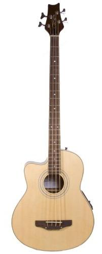 Cutaway Natural Acoustic Electric 4 String Bass with 4 EQ &