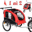 New Cycling Bicycle Trailer Pet Dog Bike Trailer Stroller Jogging w/ Suspension