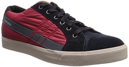 Diesel Men's D String Low Fashion Sneaker, Castle Rock,9 M