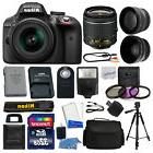 Nikon D3300 Digital SLR Camera Body 3 Lens Kit 18-55mm Lens