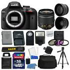 Nikon D3400 Digital SLR Camera Body 3 Lens Kit 18-55mm Lens