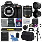 Nikon D3400 Digital SLR Camera 3 lens 18-55mm VR +16GB +More