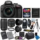 Nikon D3400 Digital Camera + 18-55mm VR + 70-300mm Lens +