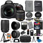 Nikon D5300 Digital SLR Camera +4 Lens 18-55mm VR 70-300 +