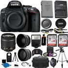 Nikon D5300 24.2 MP CMOS Digital SLR Camera + 3 Lens Kit 18-