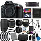 New Nikon D5300 Digital SLR Camera +8 Lens 18-55mm VR & 70-