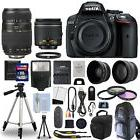 Nikon D5300 Digital SLR Camera + 4 Lens Kit: 18-55mm + 70-