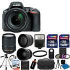 New Nikon D5500 Digital SLR Camera + 3 lens 18-140mm VR +
