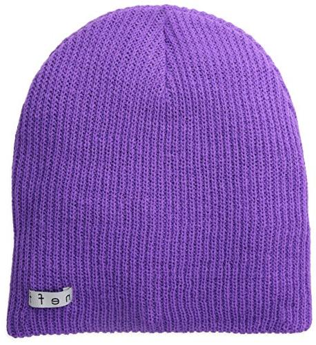 neff Men's Daily Beanie, Neon Purple, One Size